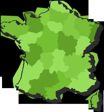 Carte des régions golfiques en France