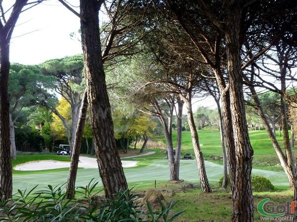 Green du trou n°9 du Blue Green Esterel golf club à Saint Raphael dans le Var en PACA sur la  Cote d'Azur
