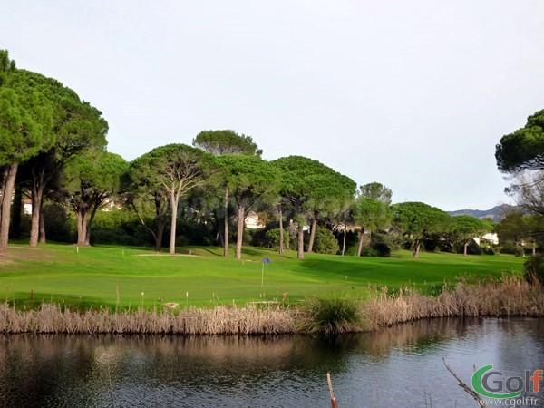 Green n°11 du golf de l'Esterel Blue green dans le Var à Saint Raphael sur la Cote d'Azur