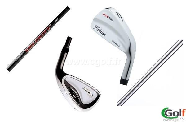 les différents club de golf, tête de club oversize, lame, shaft graphite ou acier