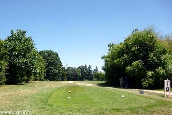 Départ n°1 du golf de Mionnay dans l'Ain proche de Lyon en Rhône Alpes