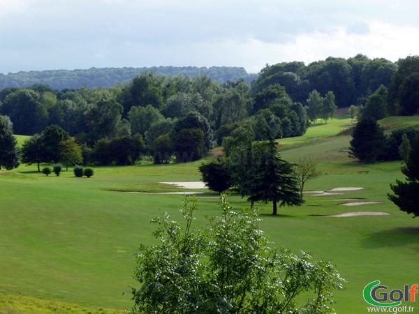 Fairway n°14 et 18 du golf d'Abbeville proche de la Baie de Somme en Picardie
