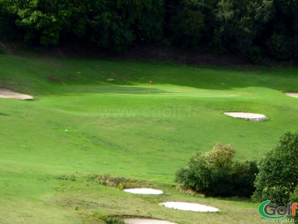 Green n°11 du golf d'Abbeville dans la Somme en Picardie proche du Crotoy à Grand-Laviers