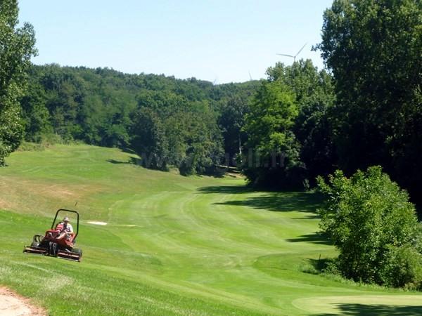 Trou n°18 du golf d'Albon Senaud dans la Drôme en Rhône Alpes entre Lyon et Valence