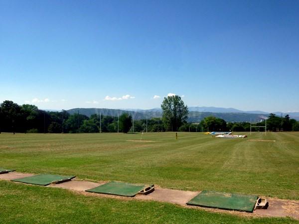 Practice du golf d'Albon Senaud en Rhône Alpes dans la Drôme entre Lyon et Valence