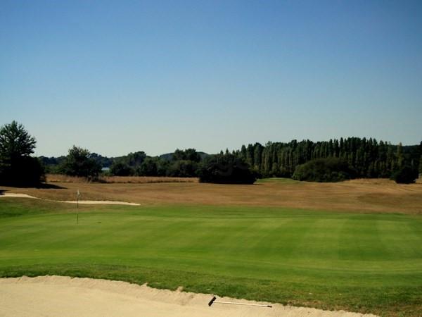 Green du golf de Baden proche de Quiberon dans le Morbihan en Bretagne
