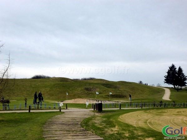 Pitching green du golf de Saint Quentin en Yvelines en Ile de France proche de Paris