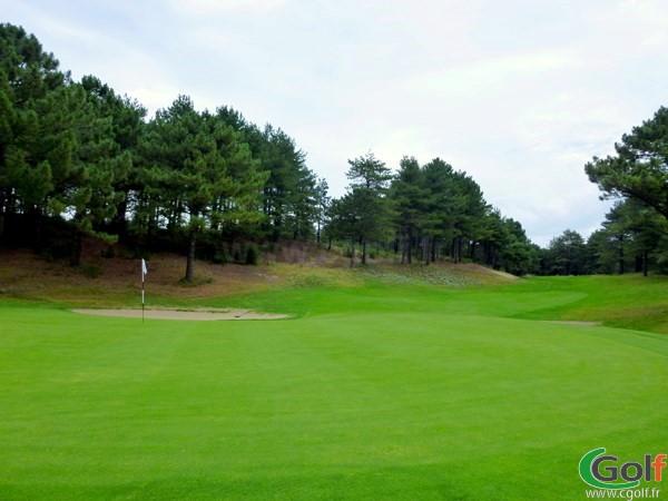 Green n°14 du golf de Belle Dune en Picardie dans la Somme à Fort-Mahon-Plage