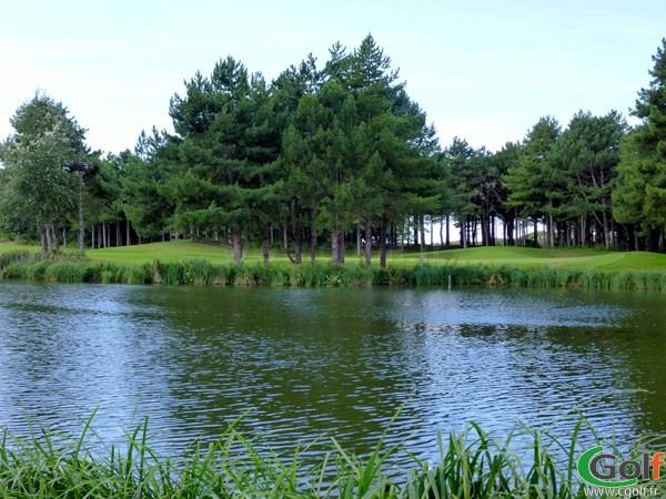 Green du 18 du golf de Belle Dune à Fort-Mahon-Plage dans la Somme en Picardie