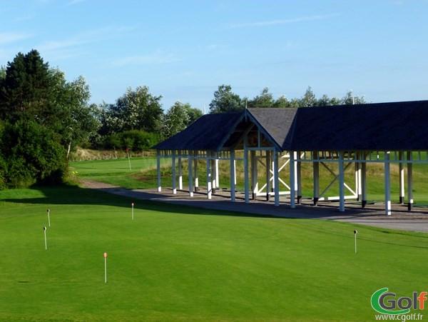 Putting green du practice au golf de Belle Dune à Fort-Mahon-Plage en Picardie