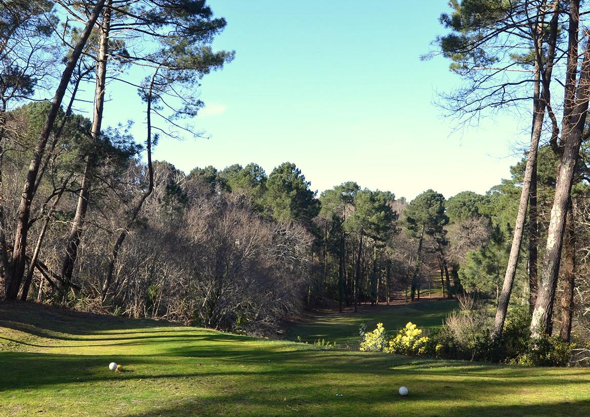 Trou n°1 du golf de Biscarrosse parcours lac en Aquitaine dans les Landes
