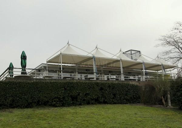 Club house du golf de Bordeaux Lac en Gironde dans l'Aquitaine