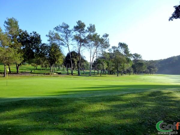 Green du n°16 du golf country club de Cannes Mougins dans les Alpes Maritimes