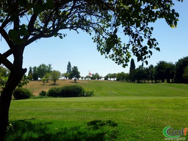 Green n°18 du golf des Chanalets dans la Drôme en Rhône Alpes à Bourg-lès-Valence