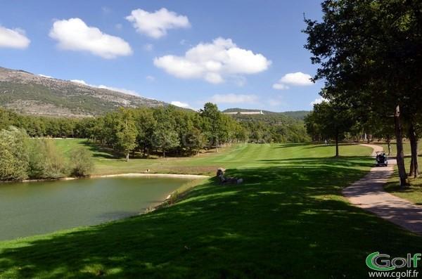 Le départ du trou n°10 du golf de Claux Amic à Grasse 06