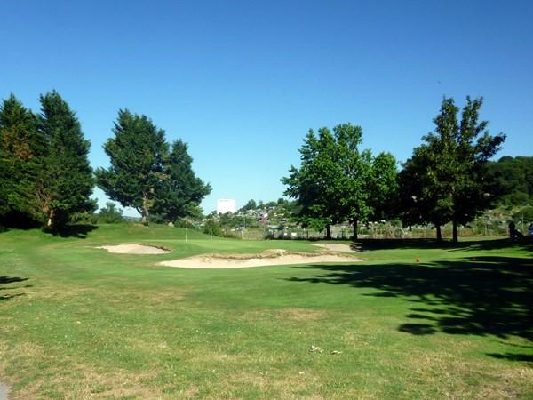 Green du golf compact de Saint-Etienne départmeent de la Loire proche de Lyon en Rhône Alpes