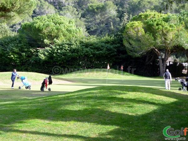 Double green au golf country club de Nice sur la Cote d'Azur en PACA