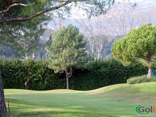 Green du golf de Nice country club dans les Alpes Maritimes en PACA