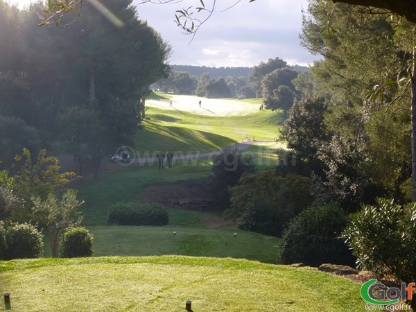 Le départ du n°1 du Dolce Fregate Provence golf club à Saint Cyr sur Mer dans le Var