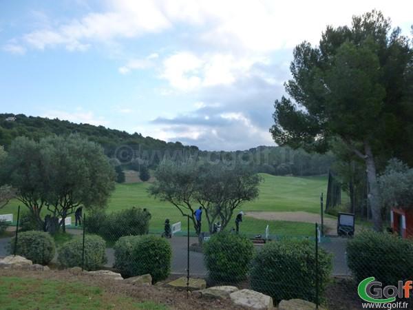 Le practice du golf Dolce Frégate Provence dans le Var à Saint Cyr sur Mer région PACA