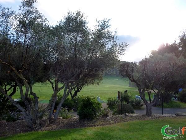 Le practice du Dolce Frégate golf club dans le Var à Saint Cyr sur Mer en Provence Cote d'Azur
