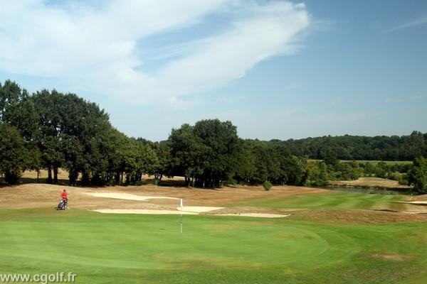 Green n°18 du golf la Domangère en VEndée proche de la Roche-sur-Yon Pays de Loire