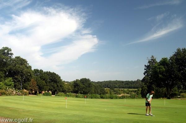 Putting green du golf La Domangère proche de la Roche-su-yon en Vendée Pays de Loire