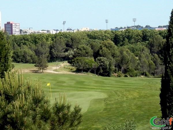 Green du golf de Fontcaude proche de Montpellier dans l'Hérault à Juvignac