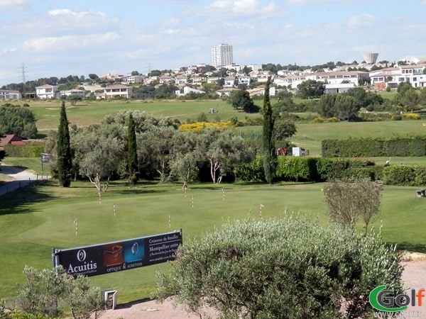 le putting green du golf de Fontcaude à Juvignac porche de Montpellier dans l'Hérault