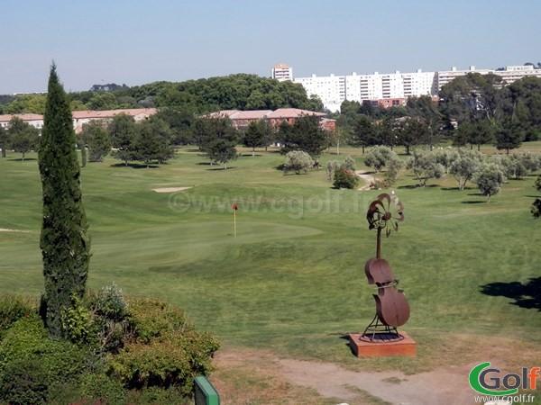 Green du golf de Fontcaude à Juvignac proche de Montpellier dans l'Hérault