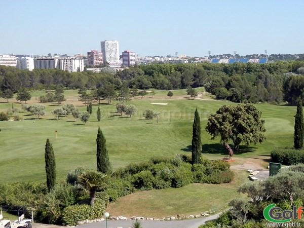 Trou de golf de Fontcaude à Juvignac porche de Montpellier dans l'Herault en Languedoc