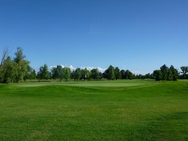 Green n°18 du golf du Forez dans la Loire à Craintilleux proche de Saint-Etienne en Rhône-Alpes