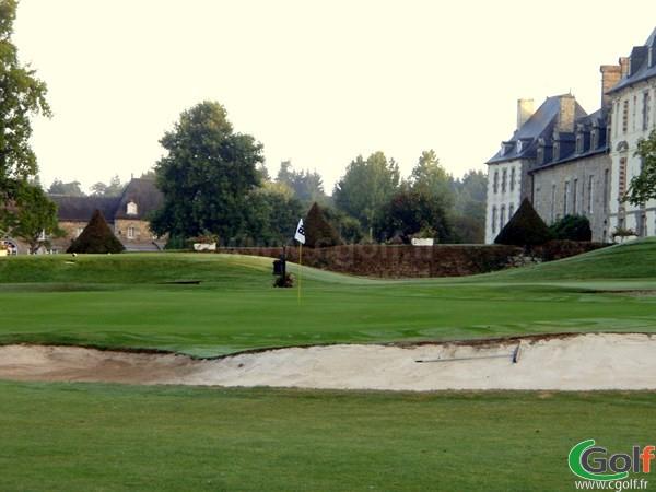 Green du golf de la Grange aux Ormes Parcours du bois brulé à Marly en Moselle en Lorraine
