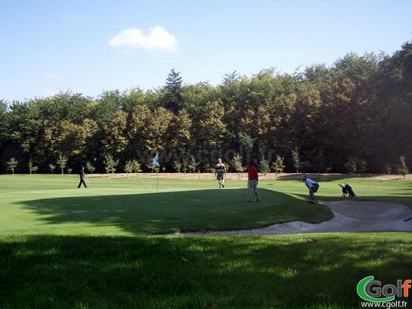 Green et bunker du golf de la Grange aux Ormes Parcours du Bois Brulé à Marly en Moselle