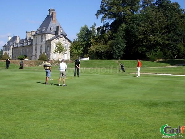 Green et Chateau du golf de la Grange aux Ormes à Marly en Lorraine en Moselle