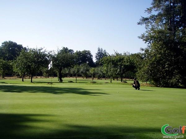 Green du Parcours le Bois brulé au golf du Domaine des Ormes à Marly en Moselle