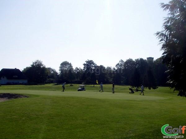 Green du golf de la Grange aux Ormes à Marly sur la Parcours du Bois brulé en Moselle, Lorraine