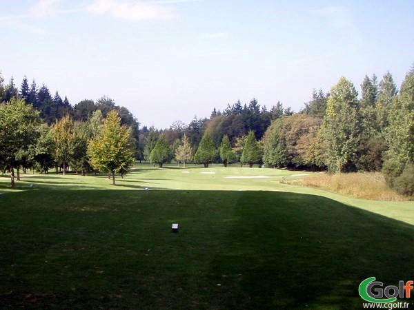 Départ du golf de la Grange aux Ormes en Moselle sur le Parcours du Bois brulé en Lorraine à Marly