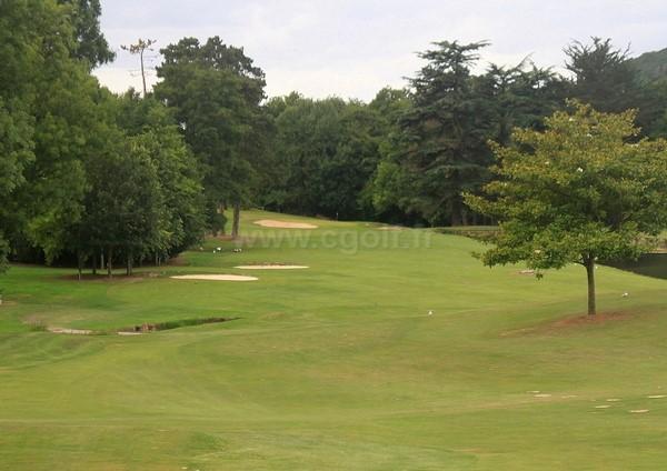 Trou n°17 du golf d'Houlgate à Gonneville-sur-Mer dans le Calvados en Basse Normandie