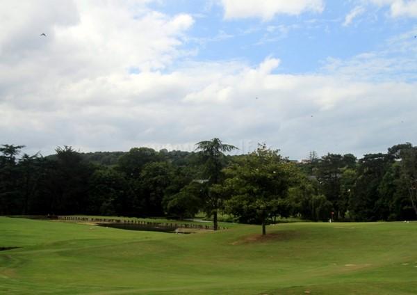 Fairways 17 et 18 du golf de Houlgate dans le Calvados en Basse Normandie