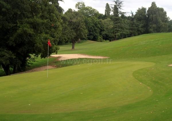 Green n°16 du golf d'Houlgate en Basse Normandie dans le Calvados à Gonneville-sur-Mer