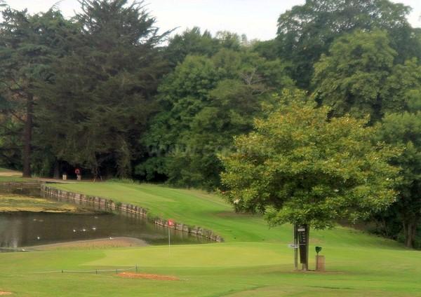 Green n°18 du golf d'Houlgate dans le Calvados en Basse Normandie proche de Cabourg