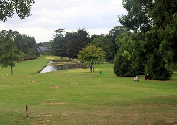 Pitching green du golf d'Houlgate en Normandie dans le Calvados proche de Cabourg