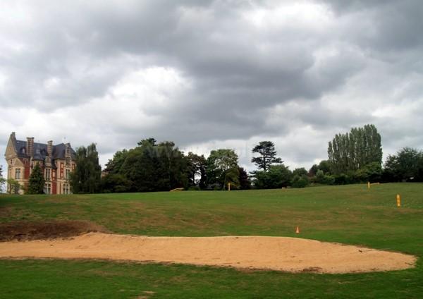Practice du golf d'Houlgate en Normandie dans le Calvados à Gonneville-sur-Mer