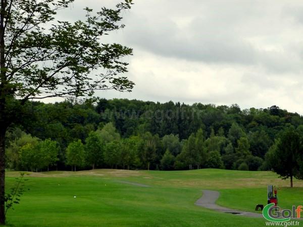 Départ n°1 du golf de l'isle d'Adam en Ile de France dans le Val d'Oise proche de Paris