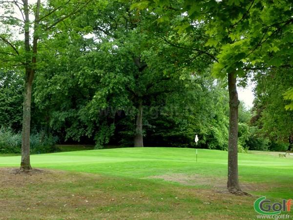 Green du golf de l'Isle d'Adam proche de Paris en Ile de France dans le Val d'Oise