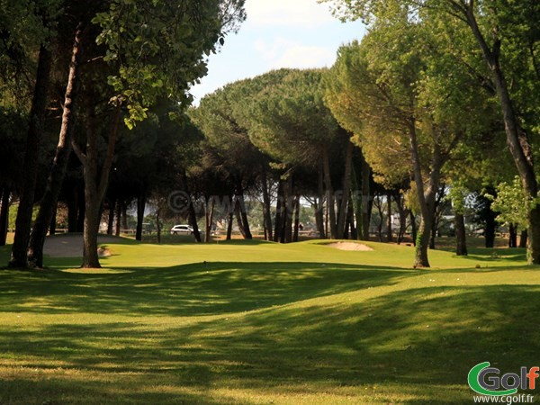 Fairway du golf compact de La Grande Motte dans l'Hérault proche de Montpellier