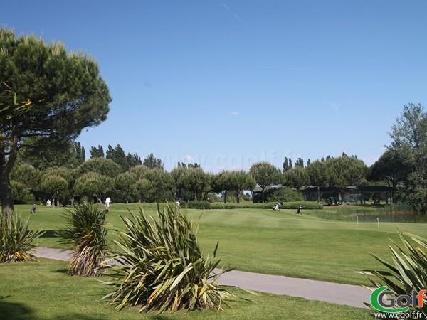 Le putting green du golf de La grande Motte dans le Languedoc Roussillon proche de Montpellier