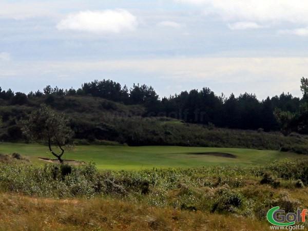 Green n°1 du parcours de La Mer au golf du Touquet en Nord-Pas-de-Calais proche de Paris