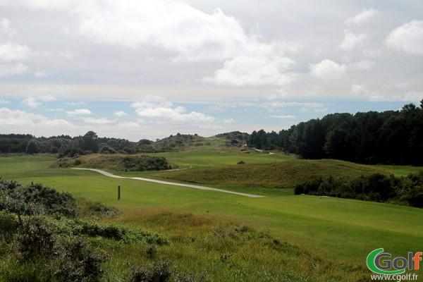 Fairways 1 et 18 du golf du Touquet Parcours La Mer sur la Côte d'Opale en Nors-Pas-de-Calais